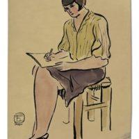 Image de Femme à la jupe violette, 1920-1930