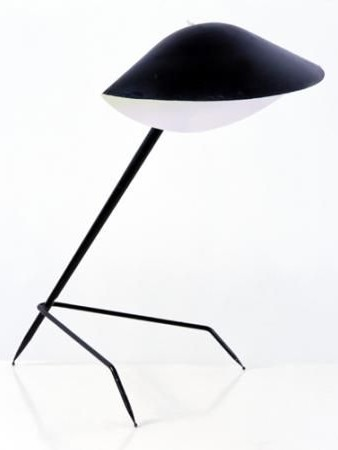 lampe tr pied oeuvre r alis e en 1953 par serge mouille. Black Bedroom Furniture Sets. Home Design Ideas