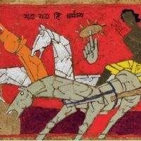 oeuvre arjuna and krishna maqbool fida husain