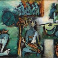 peinture ragamala series maqbool fida husain