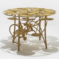 table lotus et singes claude lalanne
