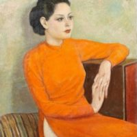 femme à la robe orange mai thu