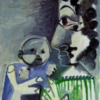 Image de Peinture «Femme et enfant»,1965