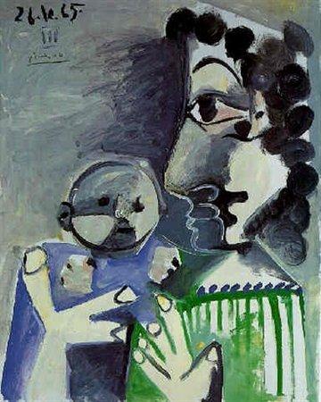Femme et Enfant | Peinture de l\'Artiste Espagnol Pablo Picasso