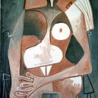Image de Peinture : «Femme nue assise», 1959