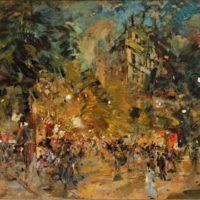 peinture fete populaire dans paris constantin korovin