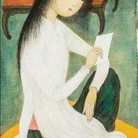 Image de Peinture «Jeune femme à la lettre», 1962