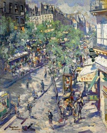 Paris 1923 Tableau De L Artiste Russe Constantin Korovin