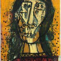 peinture lady in tunic francis newton souza