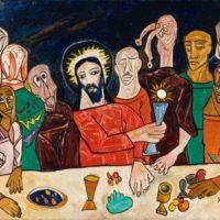 peinture last supper francis newton souza