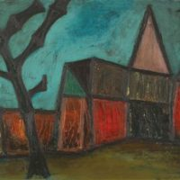 peinture row of house francis newton souza