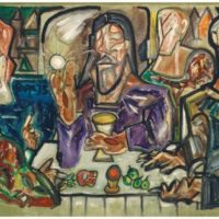 peinture supper at emmaus francis newton souza