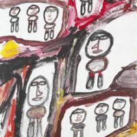 Image de Peinture « Site avec 9 personnages », 1981