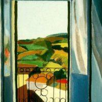 Peinture Françoise Gilot French Window Blue